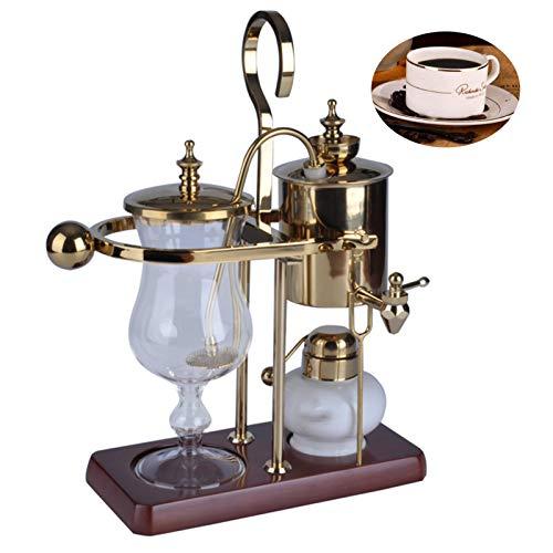 BNMY Siphonic Kaffeekanne Belgisch Belgien Luxus Royal Family Balance Siphon Siphon Kaffeemaschine, 1 Satz,Gold