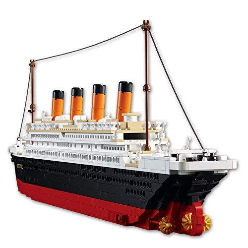 Bloques de construcción Kits De Construcción De Modelo De Ciudad De Barco De Crucero Titanic Rms, Bloques 3d, Figuras Educativas, Juguetes De Bricolaje, Pasatiempos Para Niños, Ladrillos