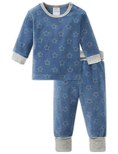 Schiesser Schiesser Baby-Jungen Grand Prix Anzug lang 2-teilig Zweiteiliger Schlafanzug, Blau (Blau 800), 62