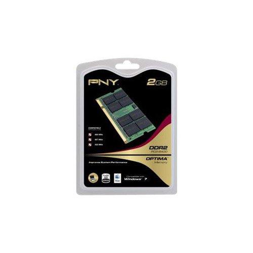 PNY Optima 2GB DDR2 800MHz PC26400 Notebook Laptop SODIMM Arbeitsspeicher MN2048SD2-800