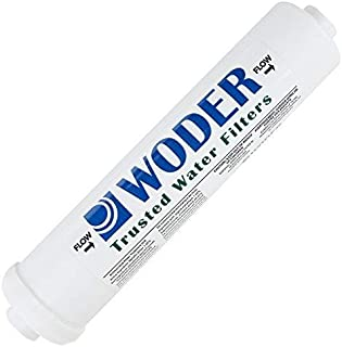 Woder WD-4K-JG-1/4 Ultra High Capacity Inline Water Filter – 3 Years or 4K Gal. - USA Made - with 1/4