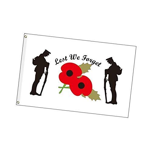 Poppy Citi 5 X 3F, Der Mohn Citi Zum Gedenken An Den Sonntag, Die Bannerfahne Des Ersten Weltkriegs Und Des Zweiten Weltkriegs, Damit Wir Die Flagge Mit Perforationen Am Gedenktag Nicht Vergessen