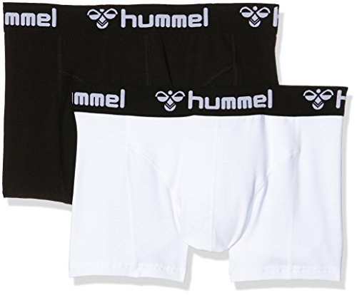 Hummel Herren Boxers His 2-Pack, Black/White, S