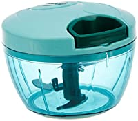 Made from high quality 100% food grade Plastic that is BPA free Imported spring action mechanism that allows easy pulling and lasts long Perfect for cutting onions, garlic, tomatoes, vegetables, salads, herbs, fruits, boneless meat, nuts and more in ...