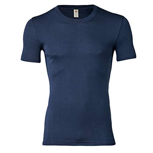 Engel Natur, Herren T-Shirt, Wolle und Seide (50/52, Marine)
