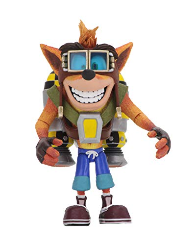 NECA- Crash Bandicoot Figura, Multicolore, 41053