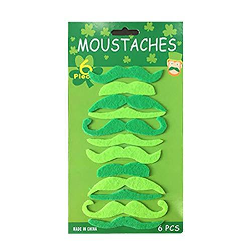 Decoracin para el da de San Patricio con bigote verde, accesorio de disfraz para fiestas irlandesas para nios y adultos