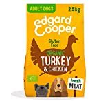Edgard & Cooper Organic Dry Adult Dog Food - 2.5kg - Turkey & Chicken - Gluten Free, Healthy & High Quality Protein
