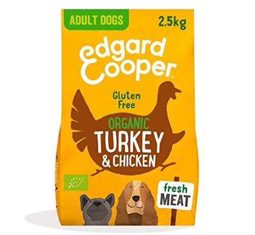 Edgard & Cooper Free-Range Turkey & Chicken Crocchette Biologiche per Cane da 2,5 kg Con Tacchino e Pollo