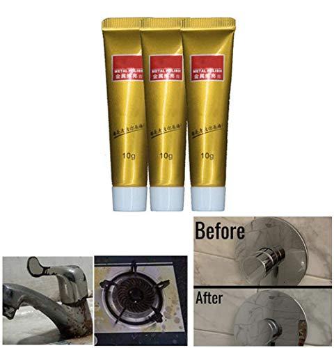 3Pcs Ultimate Metal Polish Cream, Entferner Edelstahl Keramikuhr Metall Rostentferner, Leistungsstarker Reiniger Rostschutzmittel Derusting