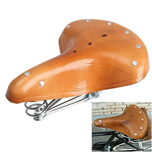 Vap26 Vintage Fahrradsattel – Handgefertigter klassischer Leder-Fahrradsattel, Wie abgebildet, about 26x1.5cm