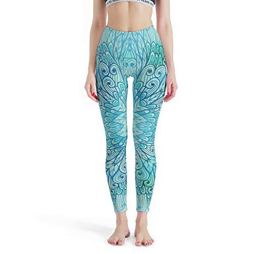 YxueSond vrouwen volledige lengte Yoga Legging groene magische Mandela Workout Gym Leggings Panty voor meisje