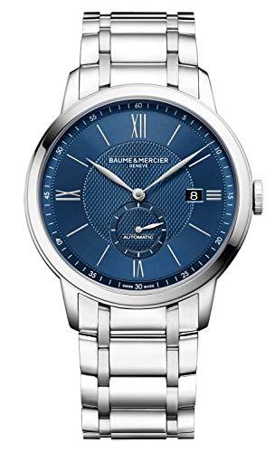 Baume et Mercier Classima 10481 reloj automático para hombre con esfera azul