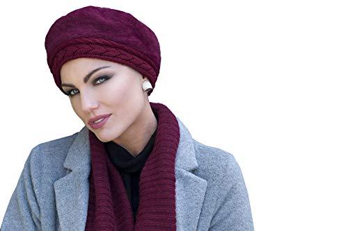 MASUMI Florence Invierno Crochet Chemo Hat   Gorro de punto para mujeres con pérdida de cabello   Gorros de lana para mujer   Gorras de invierno para mujer