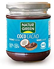 NaturGreen Crema de coco Cacao Bio 200g - Pack de 3 unidades de 200 gr