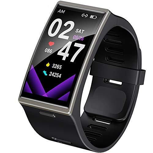 ZGZYL Hombres Smart Watch Women's Bluetooth Bluetooth Smart's Fitness Tracker Cronómetro Pedómetro Reloj Monitor De Ritmo Cardíaco De La Presión Arterial Reloj De Monitor para iOS Android,A