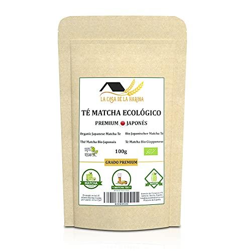 Té Matcha Ecológico 100g en Polvo | Japonés | Grado Premium | Natural | Vegano | Perfecto para beber, repostería, latte | Té Matcha Orgánico | Té Verde Matcha | LA CASA DE LA HARINA