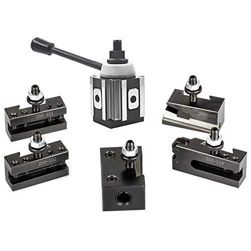 BINGFANG-W Drill Piston Tool Post Set CNC High Precision Quick Change Lathe Holder 100 Series Lathe Accessories