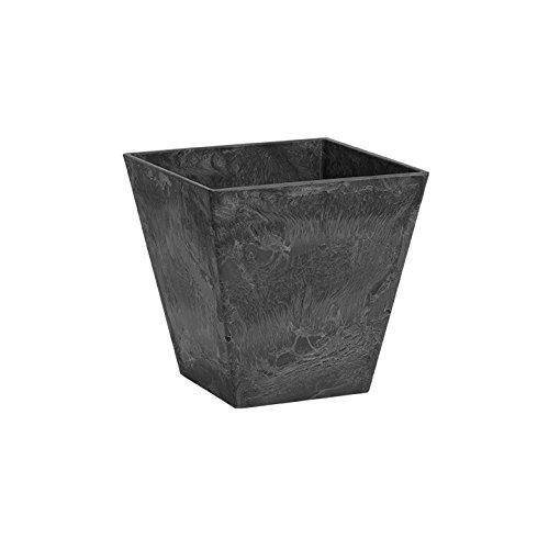 ArtStone 35108 Ella Square Planter, 10-Inch, Black