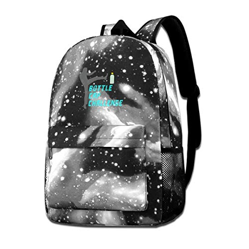 Bottle Cap Challenge Galaxy Backpacks Fashion Bags Casual Daypacks for School Travel Business Shopping Work
