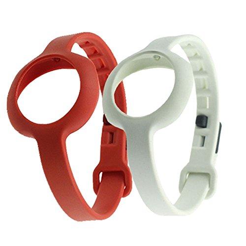 Sopear reg; 2 Stk Gemischte Farben Ersatz TPU Armband Band für Jawbone Up Move Smartwatch (S, Zufällige Farbe)
