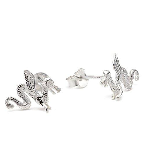 Vinani Ohrstecker Drachen Sterling Silber 925 Ohrringe ODF
