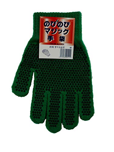 勝星産業 のびのび手袋 すべり止付 緑 10双セット #145