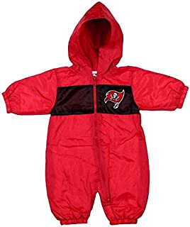 939be4cb0 Mighty Mac Tampa Bay Buccaneers NFL Baby Boys Newborn Infant Hooded Wind  Coveralls