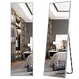LVSOMT Espejo de cuerpo entero de 160 × 50 cm, espejo de cuerpo de pie, espejo de pared, espejo de maquillaje grande, espejo de pared inclinado, espejo grande para dormitorio, sala de estar, vestuario
