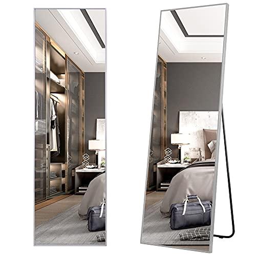 LVSOMT 160x50cm specchio a figura intera appeso a parete specchio da pavimento specchio alto a figura intera struttura in lega di alluminio camera da letto soggiorno spogliatoio