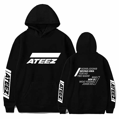 Sudadera con capucha de miembro de Kpop ATEEZ, sudadera unisex utilizada para apoyar el regalo de los fanáticos de la música ATEEZ