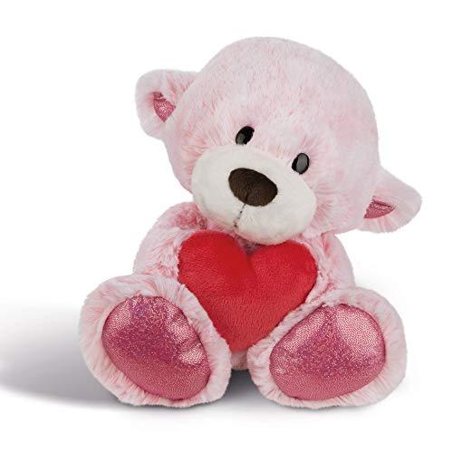 NICI Plüschtier Love Bär Mädchen mit Herz 30 cm – Kuscheltier Teddybär mit Herz für die Liebsten – Flauschiges Teddy-Stofftier zum Kuscheln, Spielen...