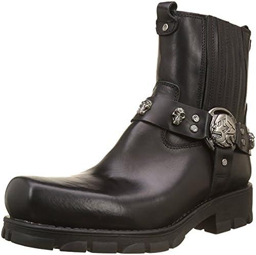 New Rock Herren M-7621-s1 Cowboystiefel, schwarz