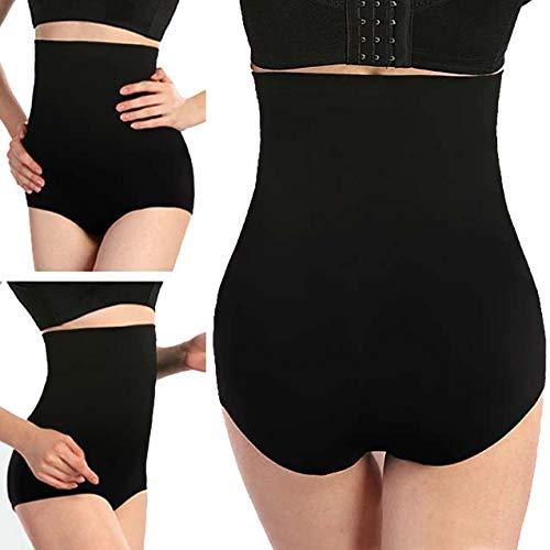 ALBATROZ Women High Waist Slimming Tummy Control Panties Knicker Briefs Comfortable Seamless Shapewear Underwear Magic Bodyshaper Black