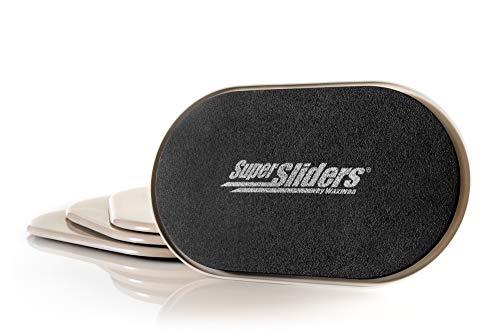 Super Sliders 9 1/2' x 5 3/4' Reusable XL Heavy Furniture Sliders for Carpet, Beige (4 Pack)