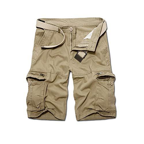 Pantalones Cortos Hombre Pantalón Cargo Verano Pantalones Cortos de Trabajo Multibolsillos Bermuda Pantalones Cortos de Anchos Deportivos