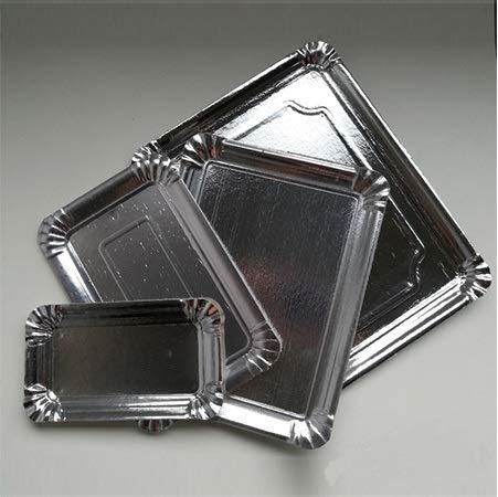 chiner® - Bandeja Cartón Pastelería Plata (20 x 27 (100 unds.))