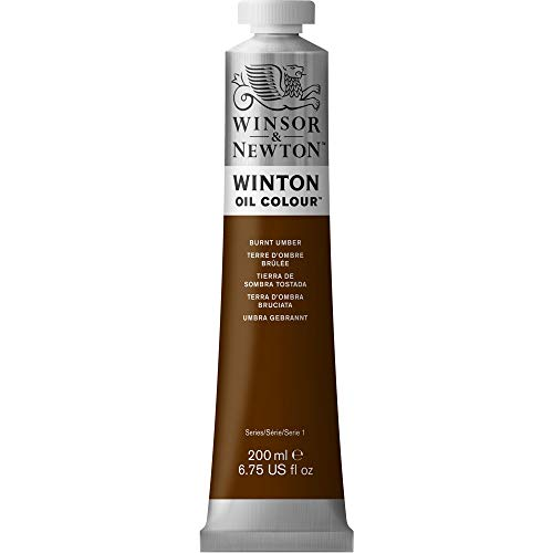 Winsor & Newton Winton Oil Color Paint, 200-ml Tube, Burnt Umber