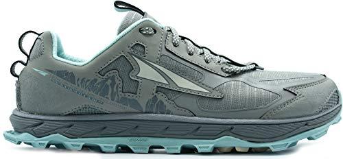 ALTRA Women's AL0A4QTX Lone Peak 4.5 Trail Running Shoe, Natural Grey/Light Turquoise - 10.5 M US