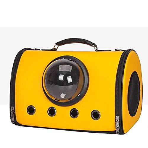 DUANYR-Pet Backpack Space Capsule Haustierrucksack - Tragbarer, atmungsaktiver PU-Katzenhundetierrucksack Freizeit-Wanderrucksack mit großer Kapazität und transparentem Fenster