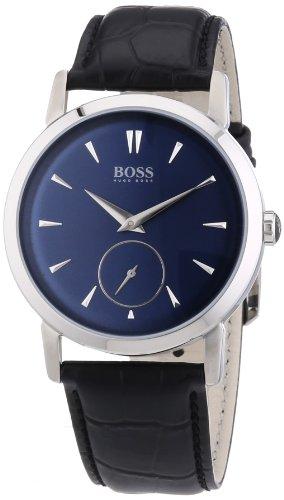 Hugo Boss 1512777 - Reloj analógico de Cuarzo para Hombre con Correa de Piel, Color Negro