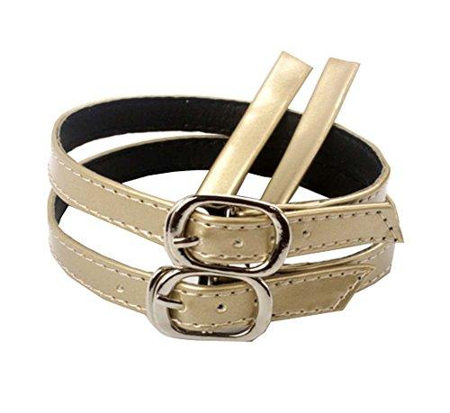 1 paire d'accessoires de lacets anti-lâches à talons hauts pour femmes, détachable - or