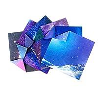 NUOLUX 折り紙 おりがみ DIY 50ピース 折り紙 両面紙 星空 折りたたみ クラフト紙 キッズ