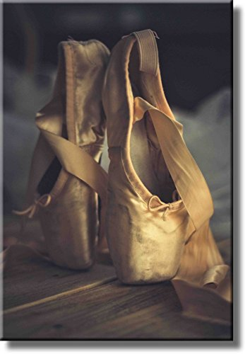 Ballet Shoes Picture on Stretched Canvas, Wall Art Dcor, Ready to Hang