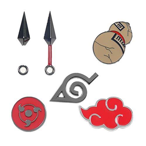 Damela My Hero Academia Pines Naruto Broche Pines Anime Broche Pin Set Multicolor