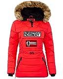 Geographical Norway Chaqueta cortavientos para mujer. rojo XL