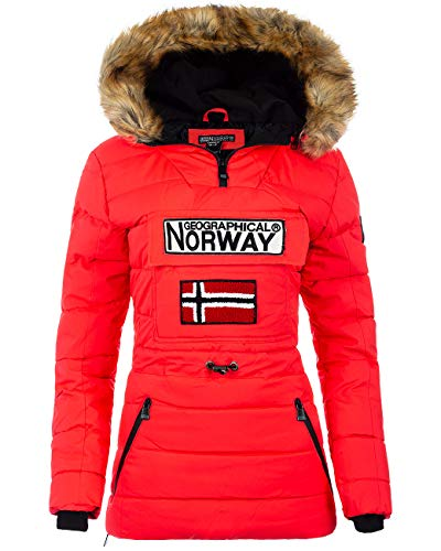 Geographical Norway Veste Coupe-Vent pour Femme - Rouge - XX-Large