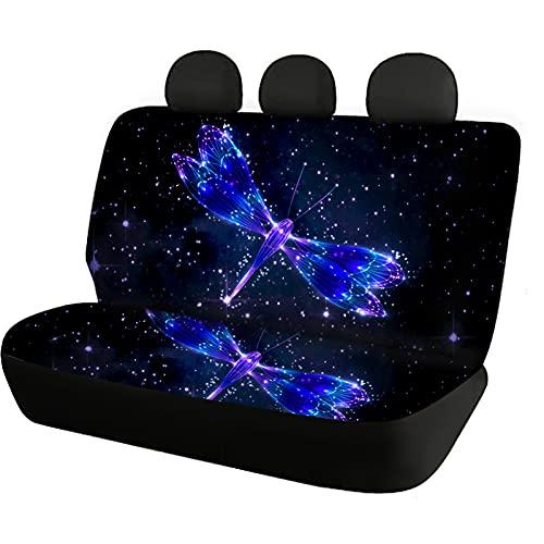 Huiacong, copertura universale per sedile auto, con libellula, per sedili posteriori, per auto, SUV, berlina, per bambini, animali domestici, cani, sedile posteriore