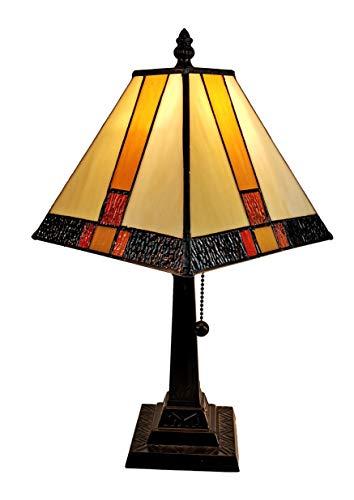 Tiffany Style Mini Accent Lamp Vintage Antique