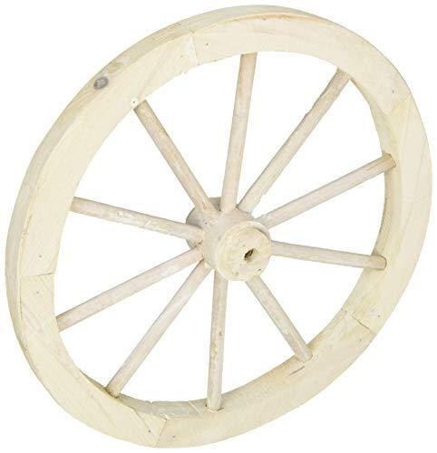 POSH LIVING PL ウォールディスプレイ アンティーク調 木製車輪 IDYLLIC GARDEN ガーデンウィール S 直径30cm ホワイト 40876